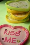 Игры шарика игрушки формы сердца пластичные с текстом Стоковые Изображения RF