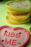 Игры шарика игрушки формы сердца пластичные с текстом Стоковое фото RF