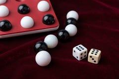 Игры, шарики и косточки Стоковое Изображение RF