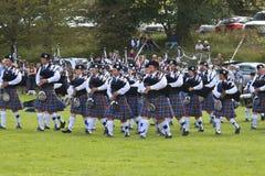 Игры Шотландия гористой местности Стоковое Изображение