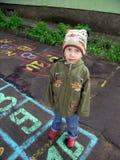 игры hopscotch игры ребенка Стоковые Изображения RF