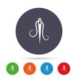 Игла с значком потока Знак портноя иллюстрация штока