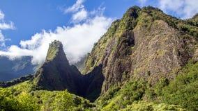 Игла Iao, Мауи стоковые изображения