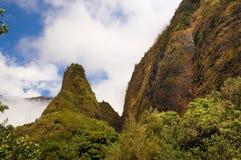 Игла Iao, на долине Iao, Мауи, Гаваи, США Стоковые Изображения