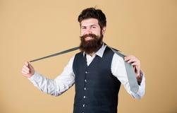 Идеальная связь Модный человек Бородатый галстук удерживания человека Зверский парень нося модные первоклассные одежды и аксессуа стоковая фотография rf