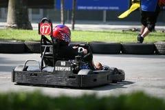 идет гонка kart Стоковая Фотография RF