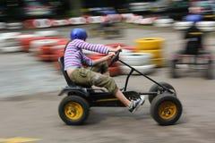 идет гонка kart Стоковая Фотография