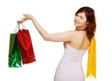 идет детеныш женщины покупкы Стоковое Изображение RF