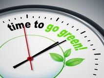 идет зеленое время к иллюстрация вектора
