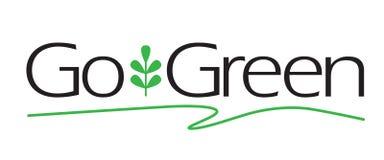идет зеленый тип Стоковые Изображения