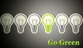 Идет зеленый цвет. принципиальная схема eco Стоковое Фото