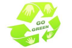 идет зеленый цвет Стоковые Изображения RF