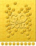идет золото Стоковые Изображения