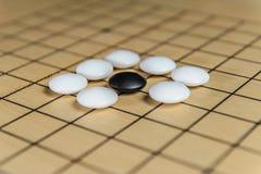 Идет - старая азиатская игра стратегии Стоковые Фото