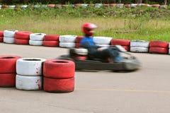 идет участвовать в гонке kart Стоковая Фотография RF