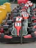 идет участвовать в гонке kart Стоковые Фото