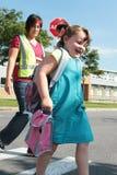 идет школа к Стоковые Фотографии RF