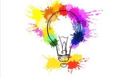 Идея и концепция нововведения иллюстрация вектора