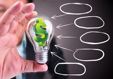 Идея как принять деньги Стоковые Изображения RF