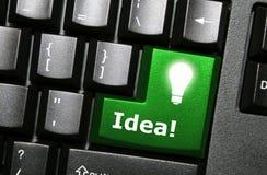 идея кнопки Стоковая Фотография RF