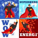 Идея проекта супергероя иллюстрация вектора