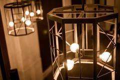 Идея ретро для светлой лампы с роскошным винтажным стилем стоковые фотографии rf
