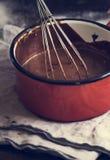 Идея рецепта фотографии ganache шоколада стоковые изображения