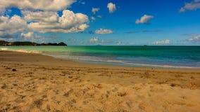 Идилличное после полудня на пляже в Барбадос Стоковые Изображения