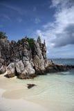 Идилличный тропический пляж Стоковое Изображение