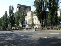Идите вокруг города взгляда Киева старого здания Стоковая Фотография RF