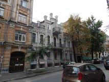 Идите вокруг города взгляда Киева старого здания Стоковая Фотография