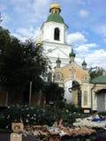 Идите вокруг города взгляда Киева старой церков Стоковое Изображение RF