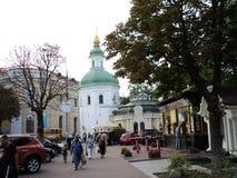 Идите вокруг города взгляда Киева старой церков Стоковые Изображения