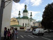 Идите вокруг города взгляда Киева старой церков Стоковые Изображения RF