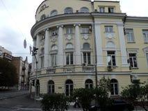 Идите вокруг города взгляда kyiv старых зданий Стоковые Изображения