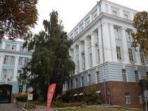 Идите вокруг города взгляда kyiv старых зданий Стоковая Фотография