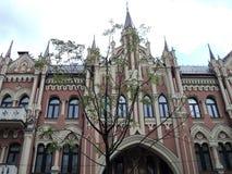 Идите вокруг города взгляда kyiv старых зданий Стоковое фото RF