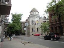 Идите вокруг города взгляда kyiv старых зданий Стоковая Фотография RF
