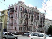 идите вокруг города взгляда kyiv старых красивых зданий Стоковые Изображения