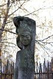 Идолы Chuvash деревянные стоковое фото