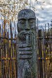 Идолы Chuvash деревянные стоковые изображения