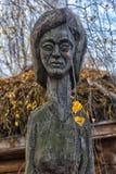 Идолы Chuvash деревянные стоковая фотография