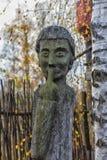 Идолы Chuvash деревянные стоковые изображения rf