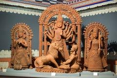 Идолы Mahishasur Mardani Laxmi и Saraswati стоковые фотографии rf