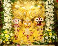 Идол Jagannath на виске Iskcon Стоковые Изображения