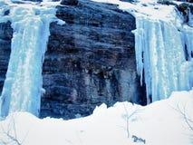 Идти в горы в зиме стоковые изображения rf
