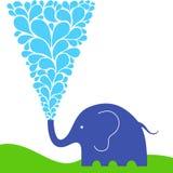 идти дождь слона Стоковые Изображения