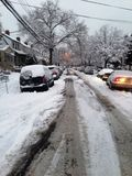 Идти снег Нью-Йорка стоковые фото