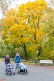 Идти через город осени Стоковое Изображение