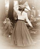 Идущая дочь в южном лагере стоковые изображения rf